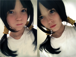 Videl - DBZ makeup and wig tryout by Izzybella4