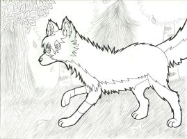Wolf in a Woods (Requested) by roselovehunt