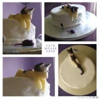 Cat And Mouse Cake by spiderdijon
