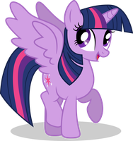 Mlp Fim Twilight Sparkle (happy) vector #3 by luckreza8