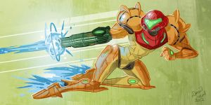 Samus Jet-Dodge by DanNeal