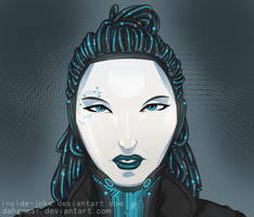 CyberA - Woman Behind The Mask by Dahgnear