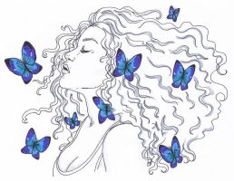 Blue Butterflies by MandyDandy-02