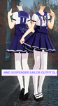 MMD Sailor suspender outfit DOWNLOAD by ReggieAndCheese