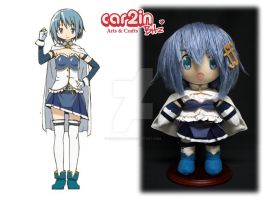 Craft Swap--Sayaka Miki Plushie by car2in-bitz