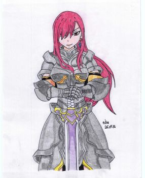 Fairy Tail - Erza Scarlet by lustosaart