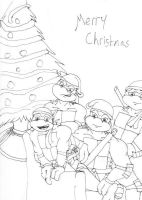 TMNT Christmas by MeiraBates by tmntart