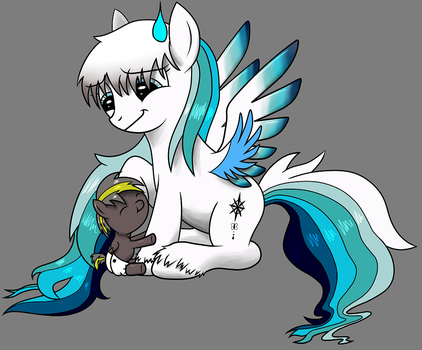 Zeus and Elfie (Shaded) by Abion47