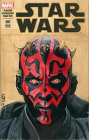 Darth Maul Sketch Cover by Geekincognito
