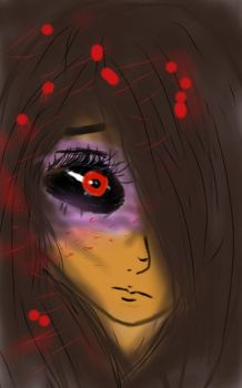 Tokyo ghoul my own character by Gumi07wolfgirl