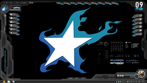 Black Rock Shooter Rainmeter by demongodn