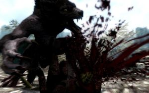 Skyrim Screenshots- Werewolf Deathblow 4 by vincent-is-mine
