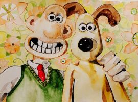Wallace and Gromit by mybuttercupart