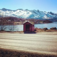 Bus Stop at Neverdal by Renama