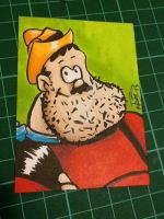 Desperate Dan Sketch Card by kevbrett