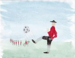 For Ductalore! 5 Soccer Player by OrigamiPhoenix