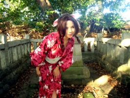 Aeris at Forest Shrine by Ali-Kitty