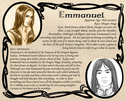 OCProfile: Emmanuel by Endorell-Taelos