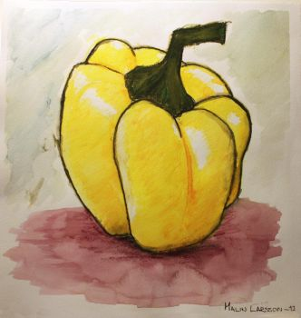 Yellow bell pepper by Guvy