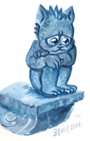 Monster a Day Challenge - Gargoyle by TopperHay
