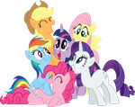 Request: Mane 6 Group Shot by RichHap