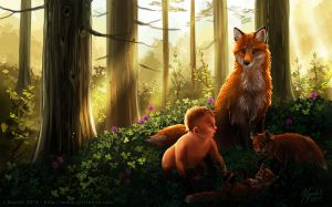 Mother Fox by joanniegoulet