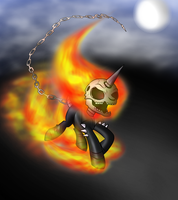 Ghost Pony Rider by voltictail