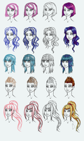 Hairstyles guide by BaseDesire