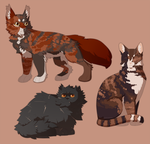 the year is 2016 and i'm drawing warrior cats by Vencentio