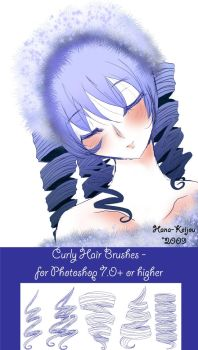 PS - Curly Hair Brushes by Hana-Keijou