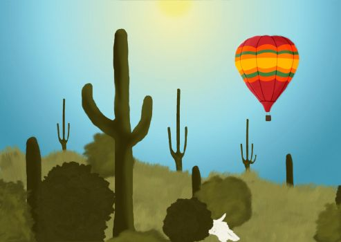Balloon Over Arizona by innocentlildevil