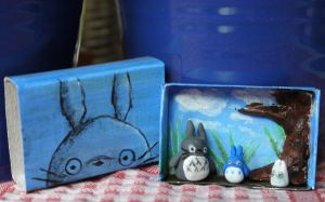 Little Totoro matchbox by Two-Rabbits