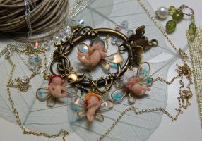 mini fairy charms by polymer-people
