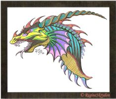 Colored Dragon 2 by SillyMigol