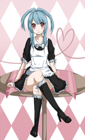 PokEmotions: Blu as a maid by Chuuco