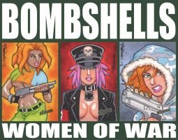 Bombshells Preview Sketch Cards by BillMcKay
