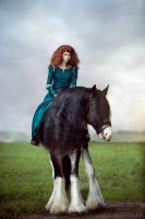 Brave - Merida and Angus_2 by GreatQueenLina