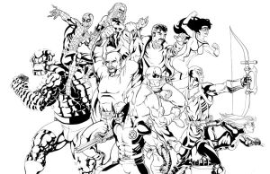 .....New Avengers Inks..... by thelearningcurv