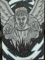 NYCC Commission - Doctor Who: The Weeping Angels by RichBernatovech