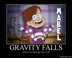 Mabel - Gravity Falls - Demotivational Picture by yahoolizard
