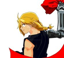 Edward Elric in paint by xXblakdiosXx