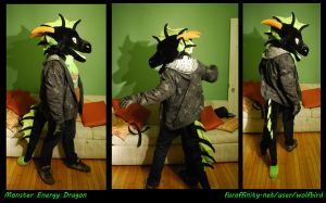 Monster Energy Dragon Costume -For Sale- by Wolfbird