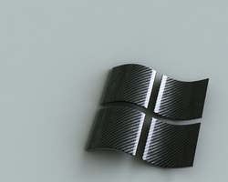 windows carbon fiber logo by dunker8