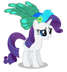Rarity in a hat with feathers by ForsakenSharikan