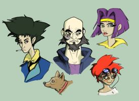 Cowboy bebop w color by Emanhattan