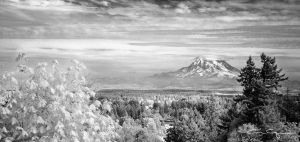 Mount Rainier IR by FrenchieSmalls