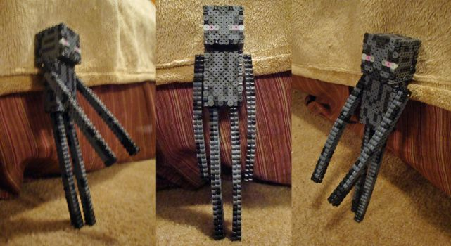 Perler Enderman by Pika-Robo