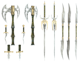 Mythical Weapons PNG Stock by Jumpfer-Stock
