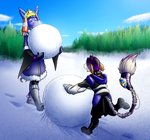 StM  Secret Santa - Time to make a snowmans by coyotepack