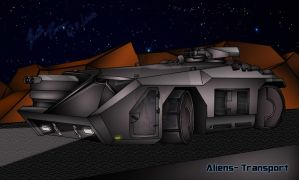 Aliens Transport vehicle -FINISHED by Lady-ElitaOne-Arts